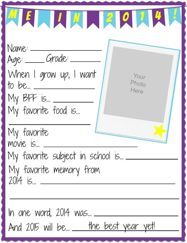 It is a picture of Printable All About Me pertaining to sheet 7th grade