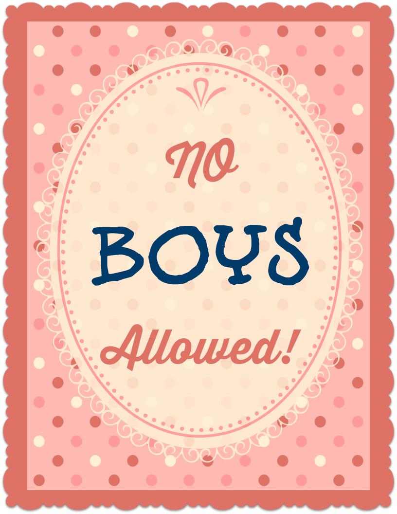 no boys allowed printable poster | allfreekidscrafts