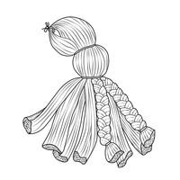 Super-Easy Yarn Octopus Step 2