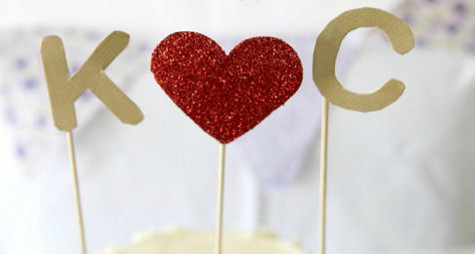 DIY Glittery Cake Toppers