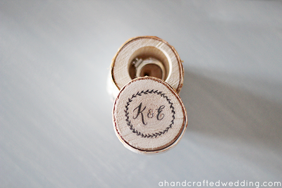 DIY Rustic Ring Bearer Box