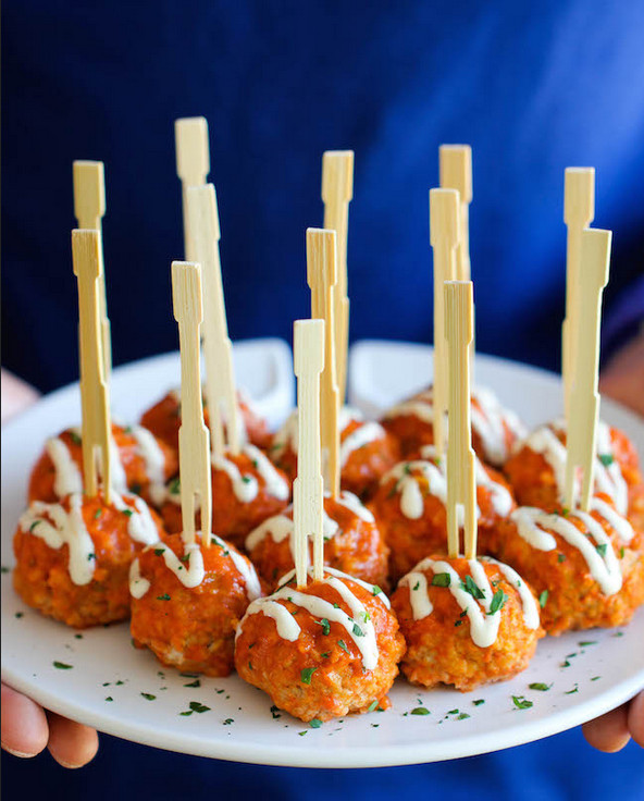 Party Finger Food Ideas Recipes: Game Day Buffalo Chicken Meatballs