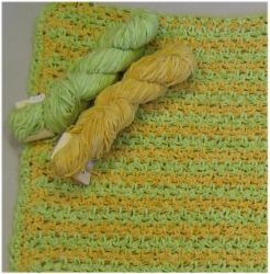 Cotton Chenille Crochet Baby Blanket