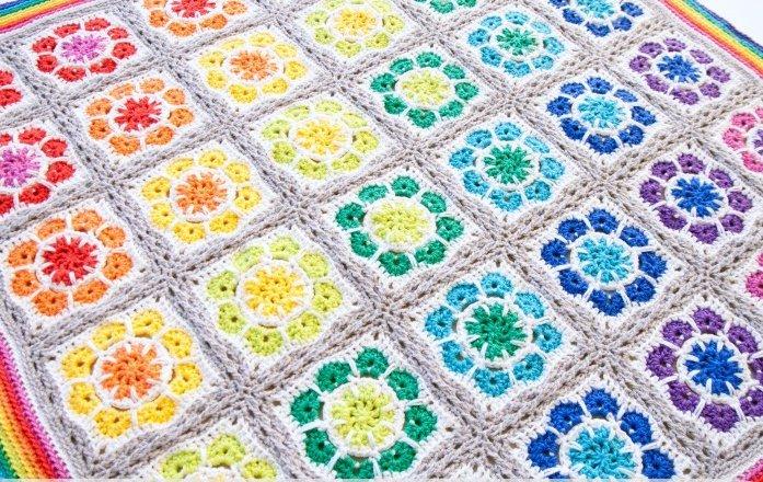 Magic Rainbow Crochet Baby Blanket
