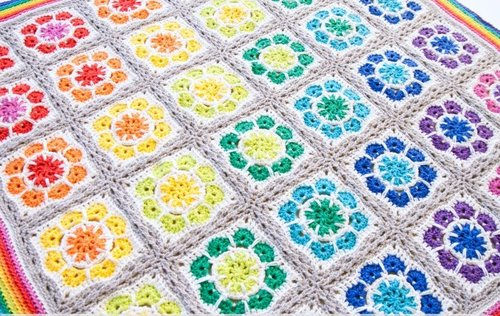 Magic Rainbow Crochet Baby Blanket Allfreecrochetafghanpatternscom