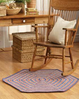 Striped Hexagon Rug