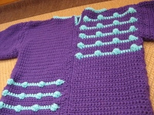 Blue and Purple Bobble Sweater