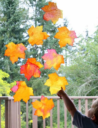 Gorgeous Fallen Leaves Suncatchers
