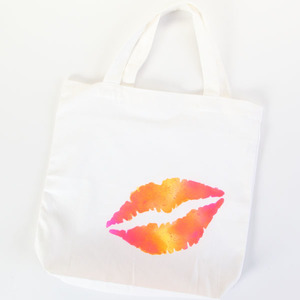 Neon Lips Tote Bag