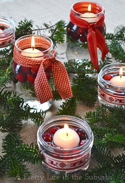 Holly Jolly Winter Elegance Centerpieces