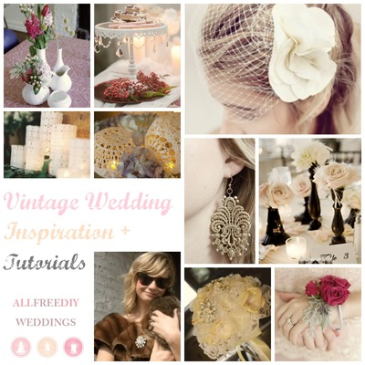 Vintage Wedding Inspiration + Tutorials
