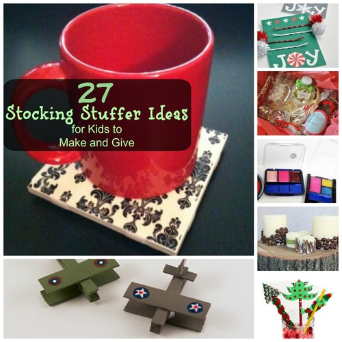 27 stocking stuffer ideas for kids to make and give for Stocking crafts for toddlers