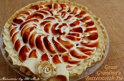 Great Grandmas Gooey Butterscotch Pie