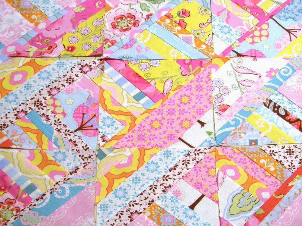 Easy Diamond Strip Quilt Block Favequilts Com