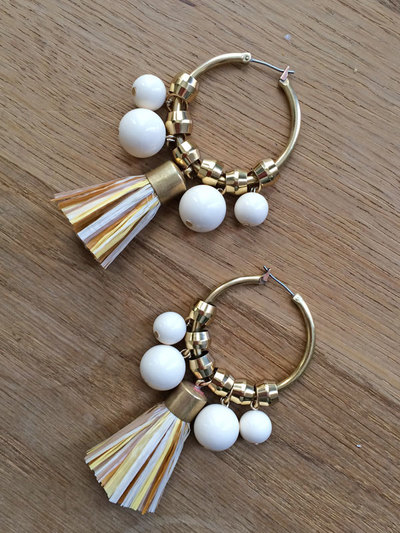 Designer Tassel and Bead Hoops