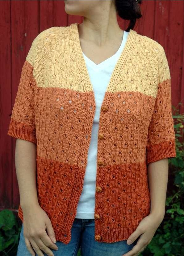 Grand Canyon Cardigan Allfreeknitting Com