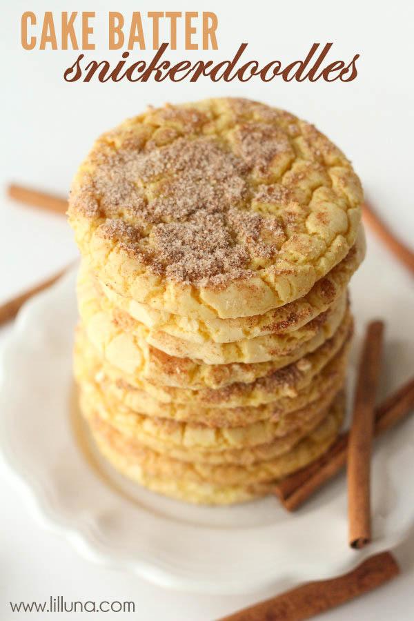 5 Ingredient Cake Mix Snickerdoodles Recipelion Com