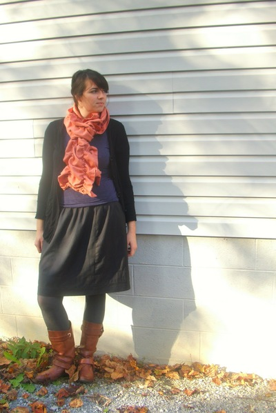 DIY Beginners Ruffled Scarf