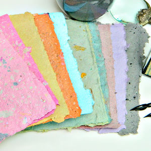 Customize your handmade paper