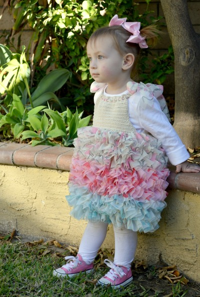 Frosted Rose Toddler Dress