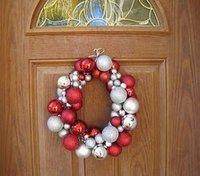 Super Easy Dollar Tree Ornament Wreath