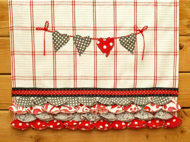 Shabby Hearts And Ruffles Dish Towel Allfreesewing Com