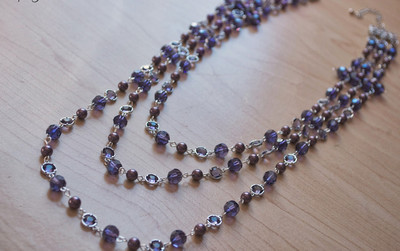 Purple Three-Strand Necklace