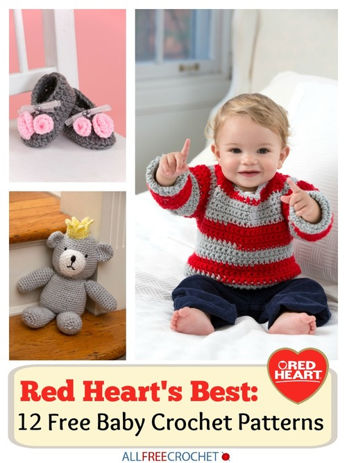 Red Hearts Best 12 Free Baby Crochet Patterns Allfreecrochetcom
