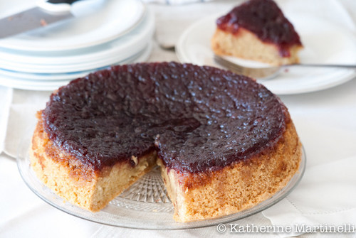 Cranberry Sauce Upside Down Cake