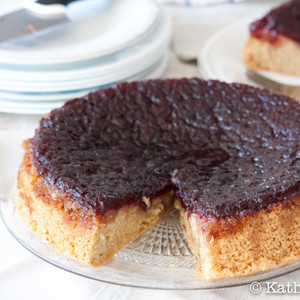 Cranberry Sauce Upside-Down Cake