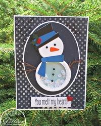 You Melt My Heart Snowman Shaker Card