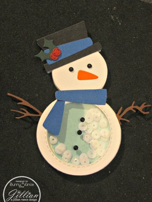 You Melt My Heart Snowman Shaker Card