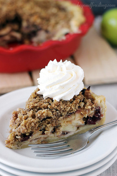 Fall Harvest Cranberry Apple Pie