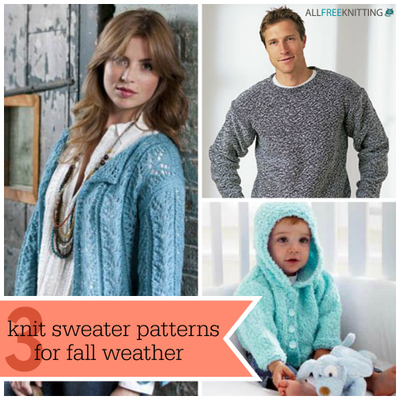 3 Knit Sweater Patterns for Fall Weather