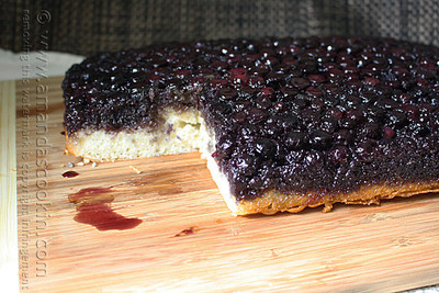 4-Ingredient Blueberry Upside-Down Cake