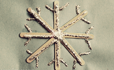Glittery Snowflake Popsicle Stick Craft
