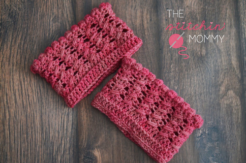 Cables and Bobbles Boot Cuffs