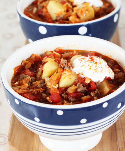 Slow Cooker Goulash Soup