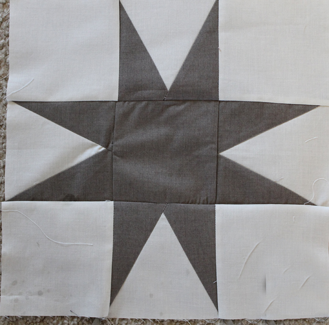 Free Quilt Pattern For 8 Point Star : Simple Eight-Pointed Star FaveQuilts.com
