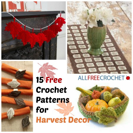 15 Free Crochet Patterns For Harvest Decor Allfreecrochet