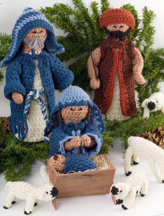 Knitting Pattern Nativity : Crocheted Nativity FaveCrafts.com