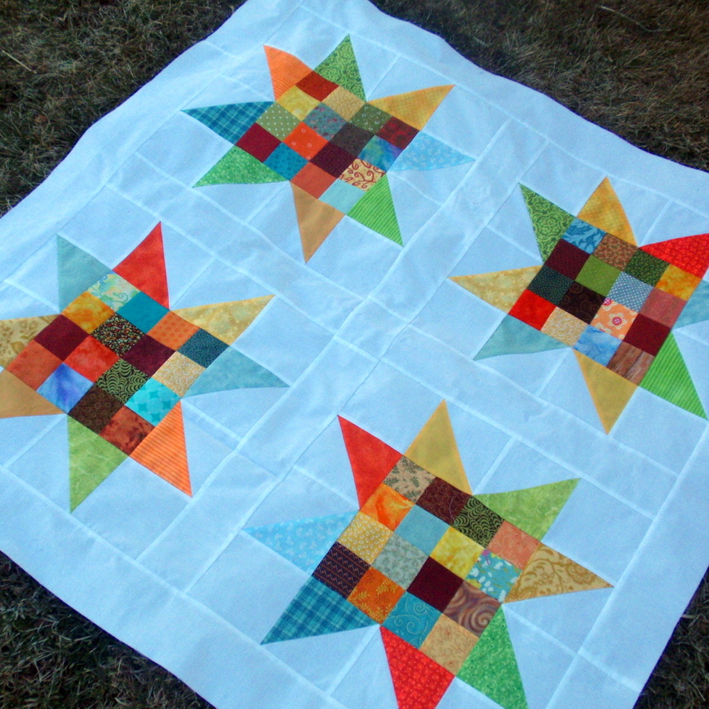 Free Quilting Block Designs : 33 Star Quilt Patterns: Free Block Designs and Quilt Ideas FaveQuilts.com