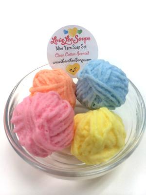 Mini Yarn Soap Set