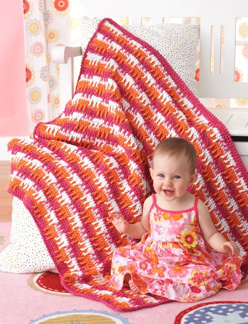 Bright and Bold Crochet Baby Blanket