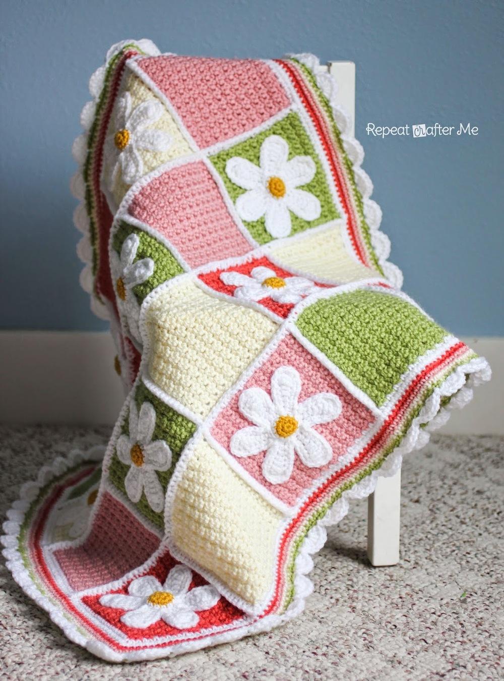 Darling Daisy Crochet Baby Blanket ...