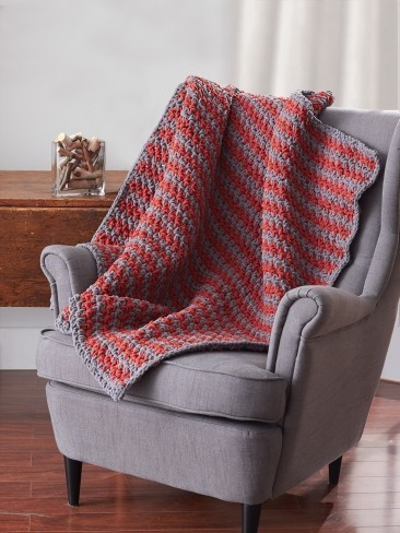 Ridiculously Easy Sawtooth Crochet Afghan
