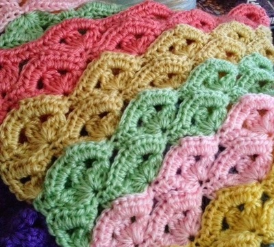 Irish Wave Crochet Baby Blanket