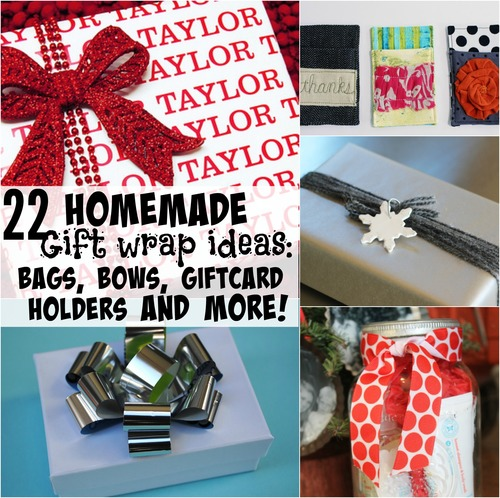 17 Homemade Gift Wrap Ideas: Bags, Bows, Gift Card Holders And More! Table  Of Contents. Homemade Christmas Wrapping Paper