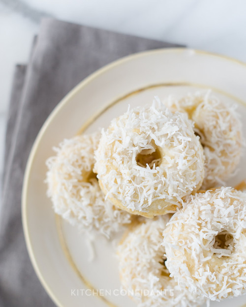 Blissful Baked Coconut Doughnuts