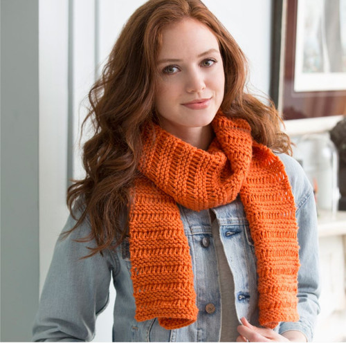 f18574f24 Garter Drop-Stitch Scarf. By  Michele Maks for Red Heart